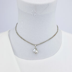 Baroque South Sea Pearl Sterling Silver Chain Simple Necklace