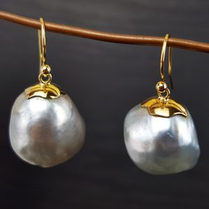 ER-99b South Sea Baroque Pearls 18kt Gold